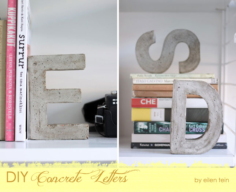 DIY Concrete Letters {The Design Tabloid}