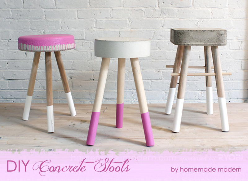 DIY Concrete Stools {The Design Tabloid}