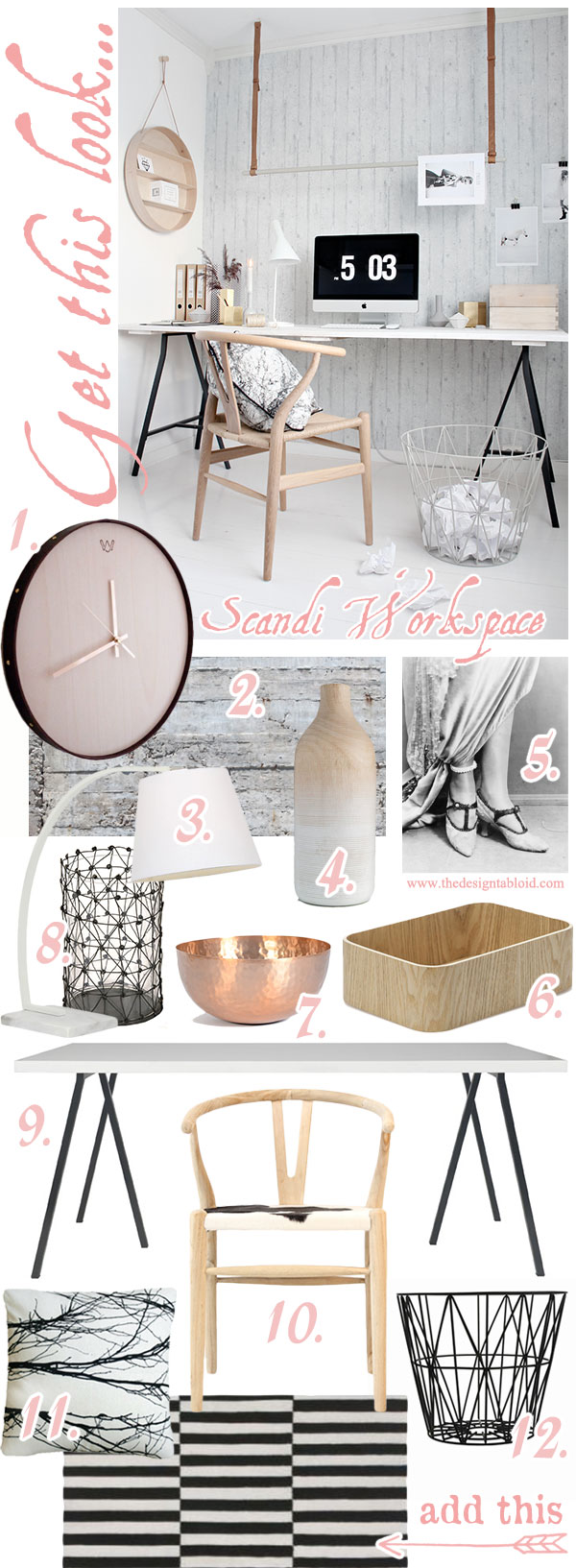 Get This Look: Scandi Workspace | via {The Design Tabloid}