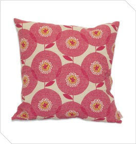 Retro flower cushion from Skinny laMinx | http://shop.skinnylaminx.com/products/cushion-cover-50x50cm-flower-fields