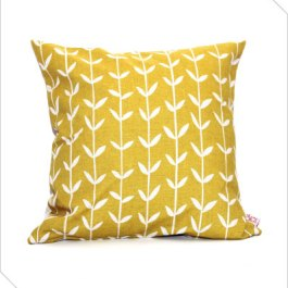 "A homage to retro surface design queen Orla Kiely. ""Solid Orla"" scatter cushion by Skinny laMinx 