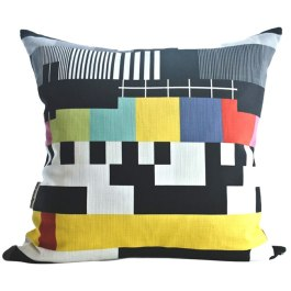 Who can remember this blast from the past?! TV Pattern cushion by Design Kist - available through HelloPretty | https://hellopretty.co.za/design-kist/tv-pattern-cushion-cover
