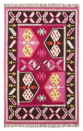 A contemporary kilim rug in bright non-traditional colours   via http://www.pbteen.com/products/travelers-kilim-rug/?pkey=crug-window-sale