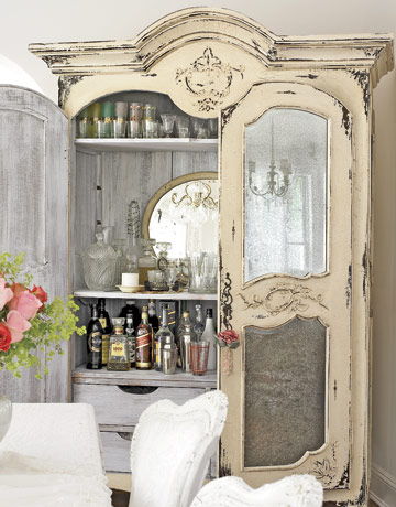 Decor Quick Tip - Armoire Turned Home Bar (1)