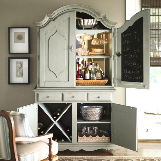 Quick tip 28 armoire turned home bar the design tabloid for Decor quick