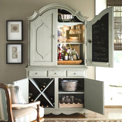 Decor Quick Tip - Armoire Turned Home Bar (2)