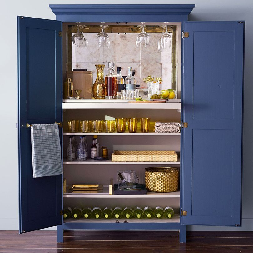 Decorating Quick Tip - Armoire Turned Home Bar | via thedesigntabloid.com