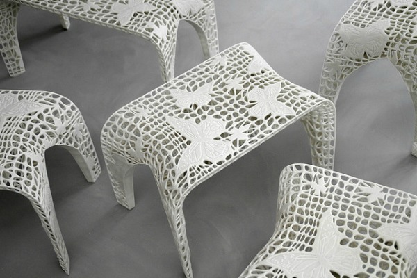 The 3D printed Monarch Stool by Freedom of Creation | via http://freshome.com/2012/11/06/how-3d-printing-is-disrupting-mainstream-manufacturing-processes/