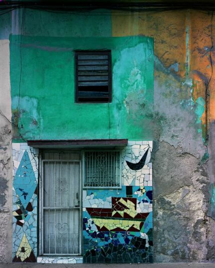 "A building in Cuba with beautiful ""urban texture"" - Photography by Michael Eastman 