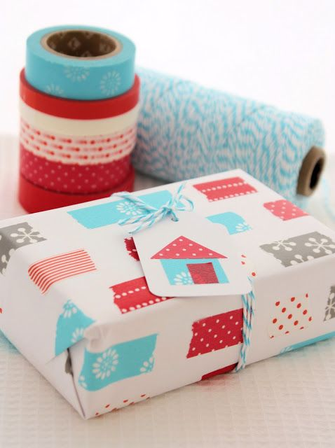 A spoonful of sugar washi tape gift wrapping inspiration