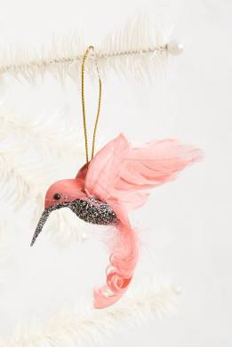 Love this pink hummingbird ornament with its beglittered chest from Anthropologie | via http://www.anthropologie.com/anthro/catalog/productdetail.jsp?navAction=jump&id=29032505&cm_mmc=CJ-_-Affiliates-_-rewardStyle-_-11292623&utm_medium=rewardStyle&utm_source=AFFILIATES&utm_content=rewardStyle