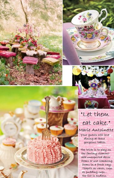 Tea, tea, tea - lovely tea party - one my hot faves is this image of a tea party. I have this thing about tea-parties | via http://ofbeautyandlove.co.za/2012/06/let-them-eat-cake.html
