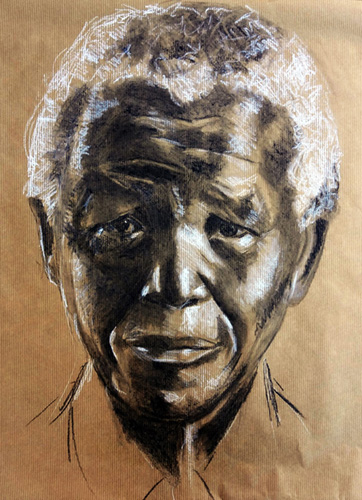 A Madiba Sketch by Miche Watkins