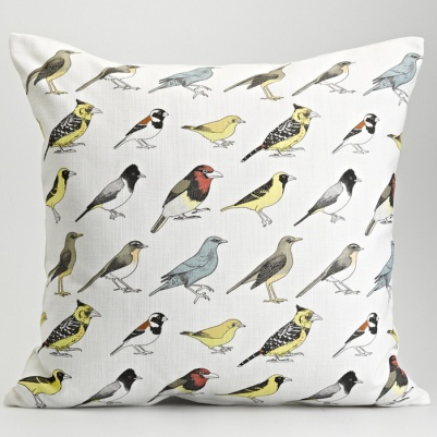 Garden Birds Cushion by Frances White