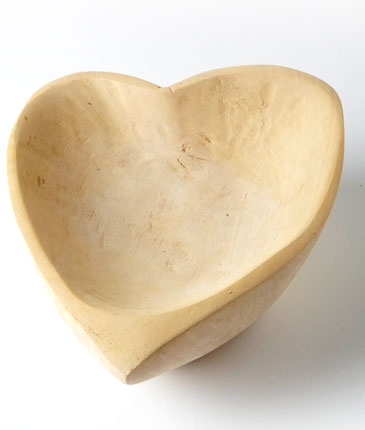 This is truly something special - an organic heart-shaped bowl carved out of solid Jacaranda wood! You can purchase it at Quirky.Me | via http://www.quirkyme.com/product/385/jacaranda-wood-heart-bowl