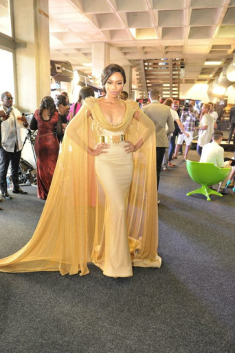 Gold Swarovski Dress nominated by Bonang Matheba.