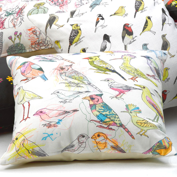 Picturebook Garden Birds Cushions by Frances White