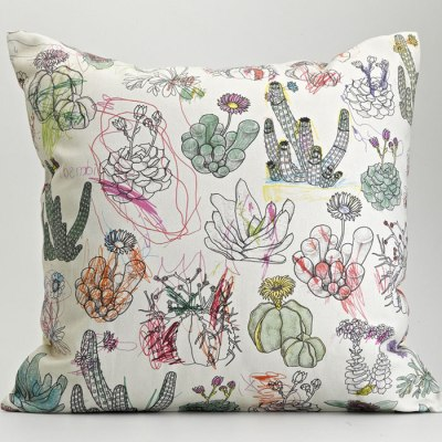 Picturebook Succulents Cushion by Frances White