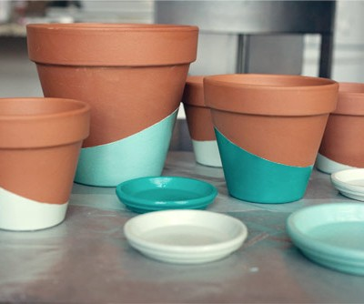 Paint-Dipped Pots