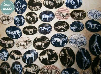 Lucy-Made Ceramic Animal Brooches | via www.lucystuartclark.com