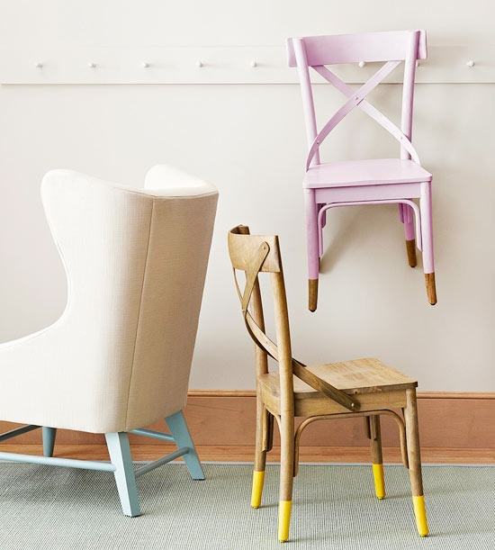 Dipped Furniture Legs: Quick Tip #32: Paint-Dipped Furniture