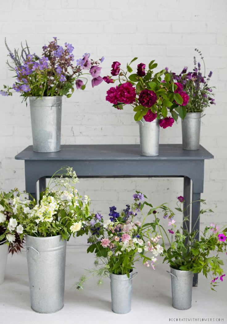 I love the idea of wild flowers | via http://decor8blog.com/2014/02/28/our-new-book-has-a-website/