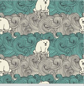 """Bear Necessities"" polar bear wallpaper designed by aLoveSupreme available through Robin Sprong 