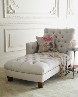 Deep buttoned one-arm chaise longue by NM Exclusive | via http://www.horchow.com/NM-EXCLUSIVE-Maddox-Tufted-Chaise/cprod81280025/p.prod