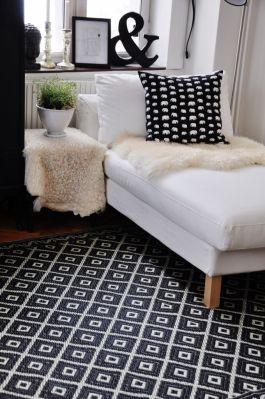 A minimalist contemporary chaise longue design from Ikea | via http://www.pinterest.com/pin/177681147772591928/