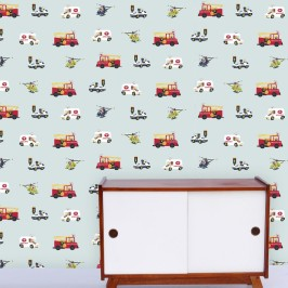 """Choppers and Wheels"" Wallpaper designed by Kristen Morkel available through Design Kist 