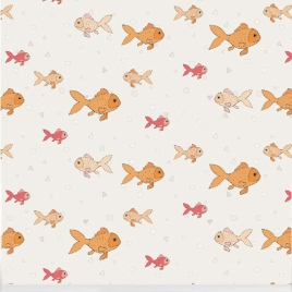 """Fishbowl"" wallpaper designed by Nicole Long available through Robin Sprong 