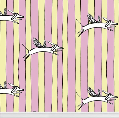 """Flying Harry"" wallpaper designed by Victoria Verbaan available through Robin Sprong 