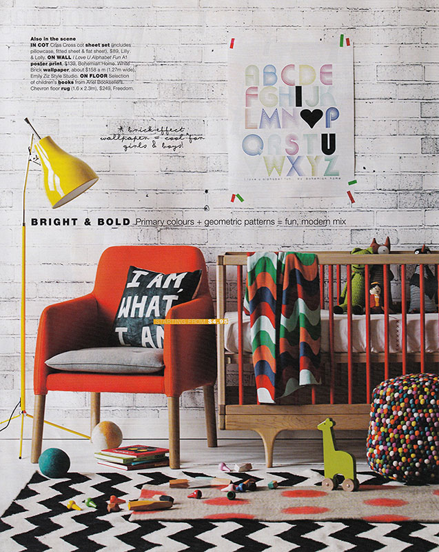 I found this styled nursery by Lindsey Fryers quite interesting - love the distinct retro feel and use of bright colours (why are people so afraid to use colour in nurseries nowadays?!) Love it! | via http://patbates.com/lynsey_fryers/