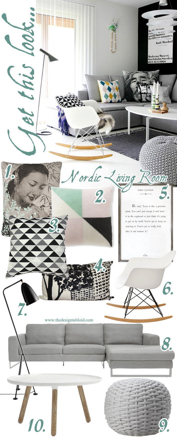 Get This Look - Nordic Living Room {The DesignTabloid}