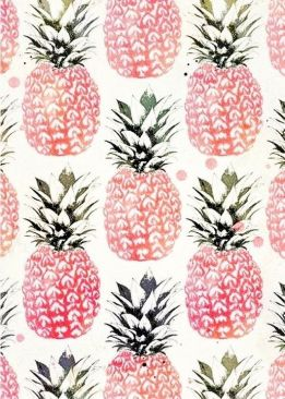 Pink Pineapple Print Paper | via http://weheartit.com/entry/99092236