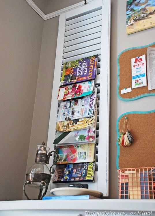 Quick tip 36 shutter turned magazine rack the design for Trendy magazine rack