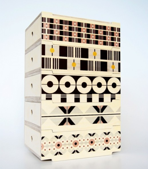 "2DO Stackable Storage Tower by De Steyl + Renée Rossouw Studio | To vote for this object, SMS ""TOWER 4 MBOISA"" to 40619."