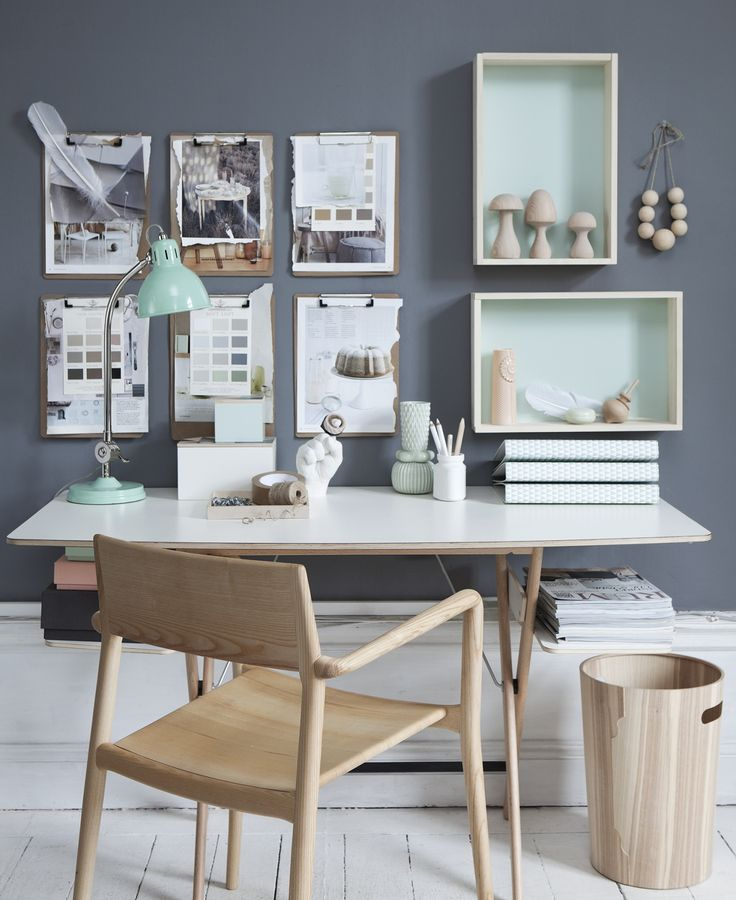 LOVE the clipboards in this perfectly styled workspace by Linda Åhman. | Source: http://www.lindaahman.se/