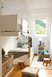 Beach / nautical themed bunk bed room for little boy