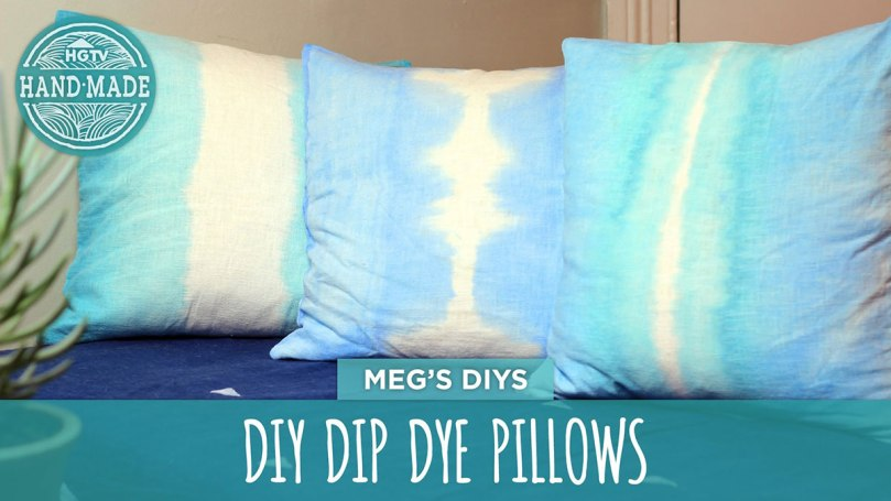DIY Video: How To Dip Dye Pillow Cases