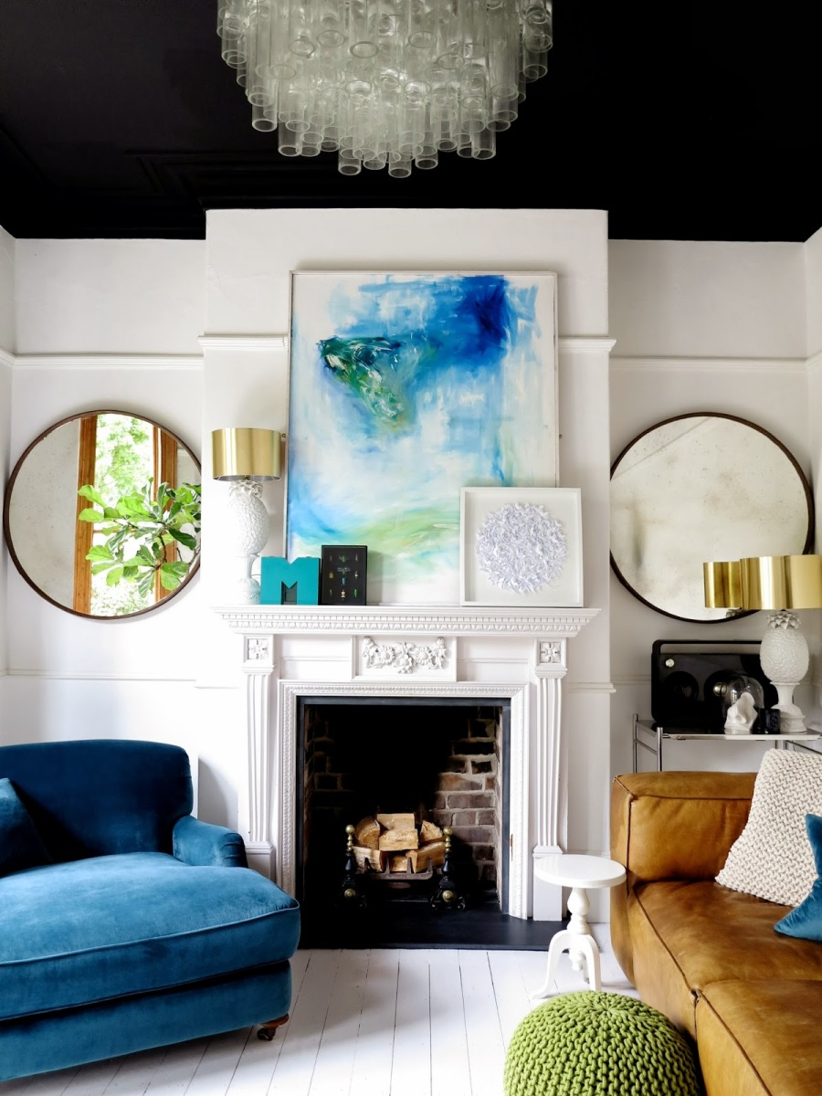 10 Painted Ceilings That Pop