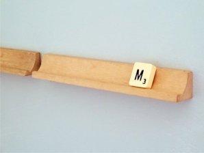 Decor Quick Tip: Scrabble Rack Turned Shelf