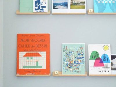 Decor Quick Tip: Scrabble Rack Turned Shelf