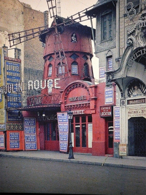 "The photograph of Moulin Rouge at the tail-end of the bohemian revolution. The 2001 film ""Moulin Rouge!"" reflects the Bohemian lifestyle in Montmartre at the turn of the 20th century."