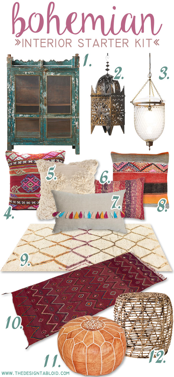The Design Tabloid - Get the Look - Bohemian Interior
