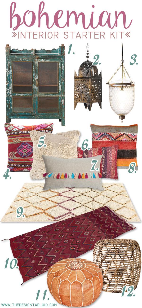 The Design Tabloid - Get the Look - Bohemian Interior