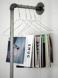 Decor Quick Tip - Clothes Hanger Magazine Rack