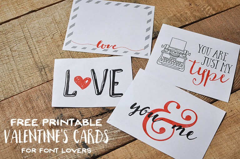 To DOWNLOAD this Free Valentine's Day Printable, please visit: http://bydawnnicole.com/2016/01/free-printable-typography-valentines-day-cards.html