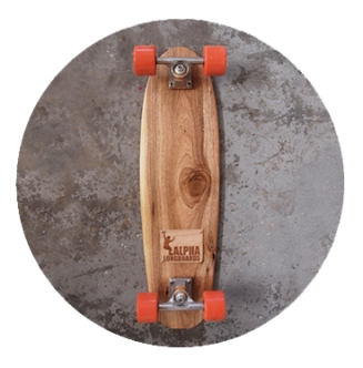 Skateboard created by Kent Lingeveldt. Every board that leaves the Alpha Longboards workshop is hand cut, shaped, sanded and finished by the founder himself. Each board is unique and many are custom artworks. [To vote SMS MBOISA+LONGBOARD to 40619 at a cost of R1.50 per SMS]