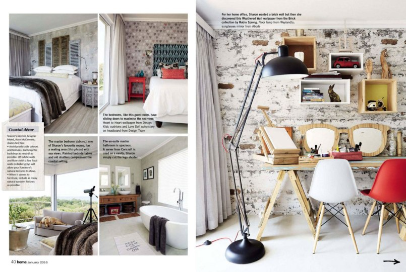Magazine feature of interior design by Design Monarchy